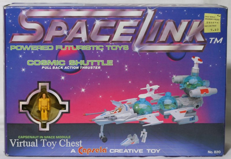 capsela spacelink cosmic shuttle front of box
