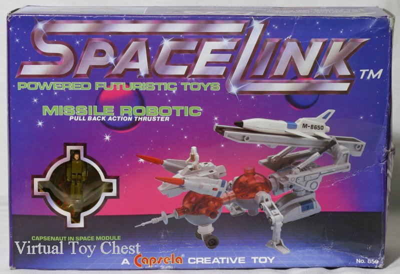 capsela spacelink Missile Robotic front of box