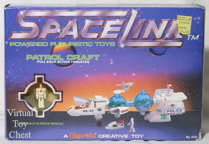 capsela spacelink patrol craft front of box