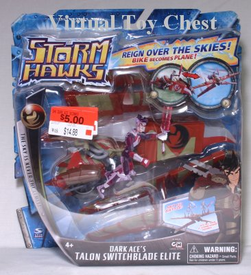 Storm Hawks Spin Master Dark Ace's Talon Switchblade Elite MOC