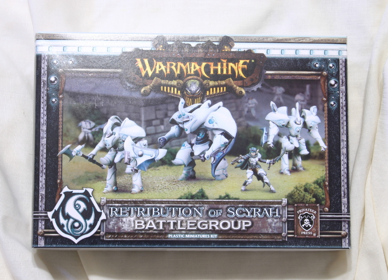 Warmachine Retribution of Scyrah Battlegroup front of box